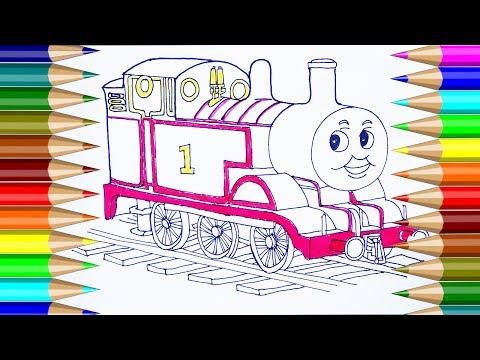 colorear thomas y sus amigos