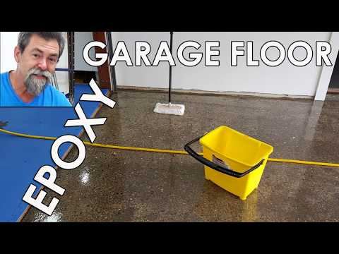 How to epoxy paint a concrete garage floor. Dave Stanton easy woodworking
