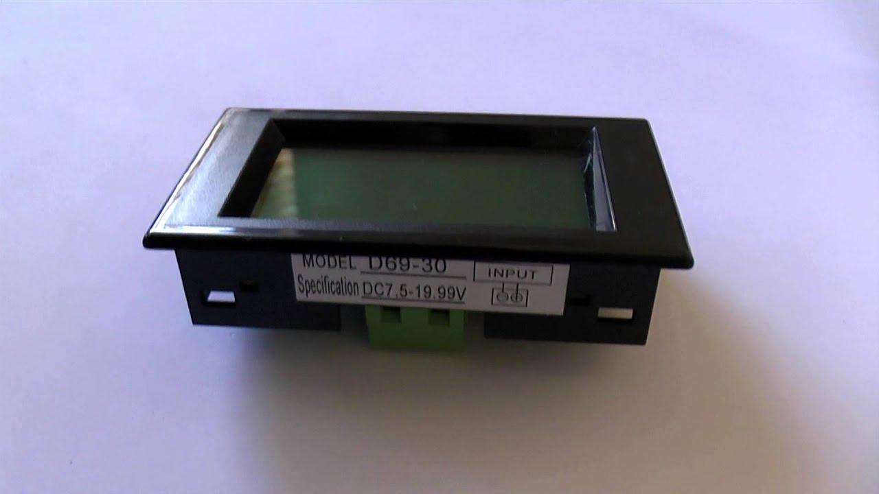 0644 Digital Voltmeter 12v Dc Battery Monitor Panel Meter 75 Wiring Diagram Youtube Premium