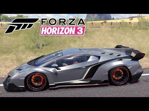 Lamborghini Veneno Espetacular No Jogo Forza Horizon 3 Gameplay