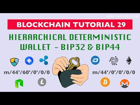 Blockchain tutorial 29: Hierarchical Deterministic wallet - BIP32 and BIP44