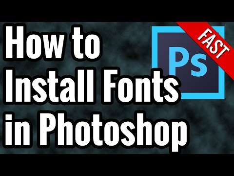 How To Install Fonts In Photoshop CC - Free Photoshop Fonts - Fast Tutorial Mac & PC