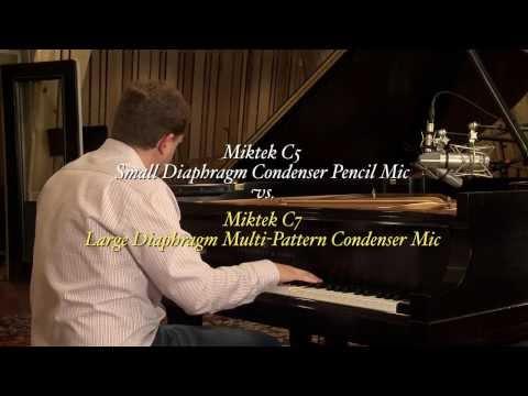 SDC vs LDC Microphone Comparison: Miktek C5 & C7 Microphones on Grand Piano