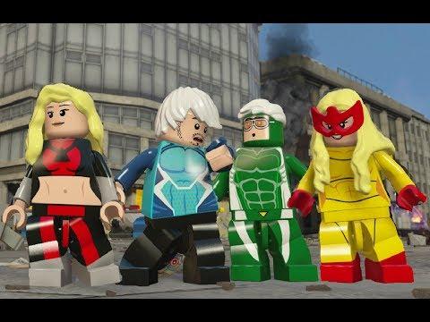 LEGO Marvel's Avengers - All Speedsters Gameplay (Mark 40, Quicksilver, Speed, Stan Lee, etc)