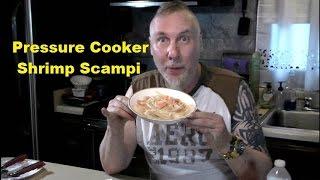 Seafood Pressure Cooker Shrimp Scampi And Linguine Pasta