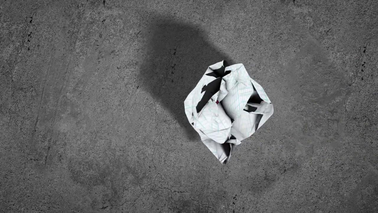 045 Crumpling paper logo reveal