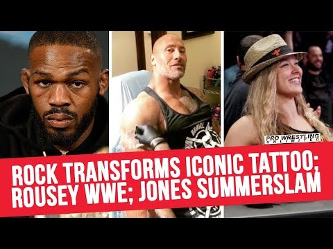 Rock Transforms Iconic Tattoo; Rousey Next WWE Appearance: Jones SummerSlam & More