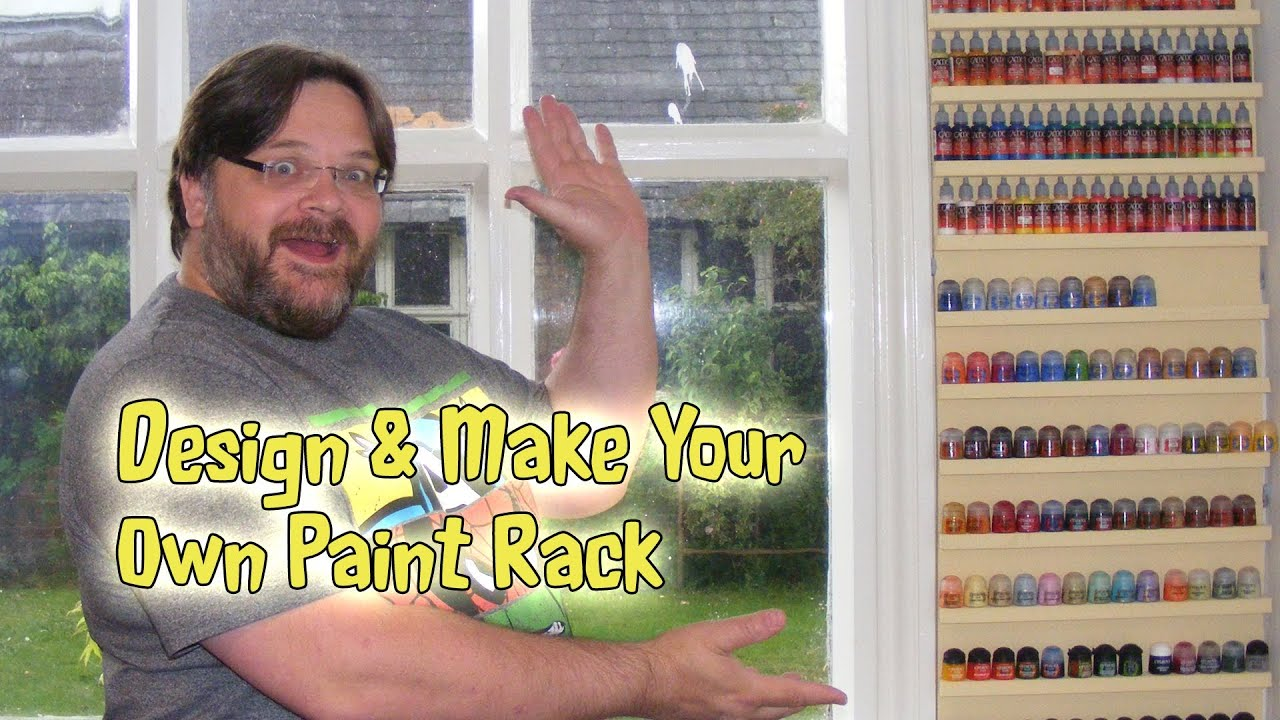 make your own paint rack shelf youtube. Black Bedroom Furniture Sets. Home Design Ideas