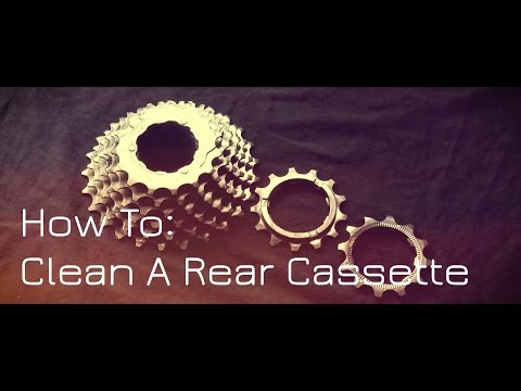 How To Clean A Rear Cassette