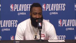 James Harden Postgame Interview - Game 4 | Warriors vs Rockets | 2019 NBA Playoffs