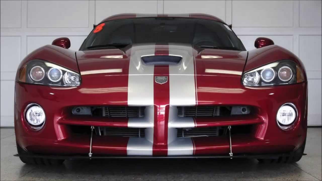 Venom Red 2008 Dodge Viper SRT-10 (Aero Package) - YouTube