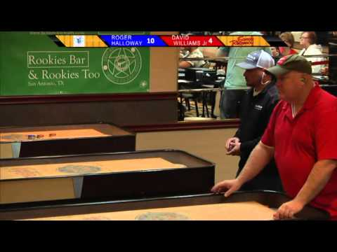 David Williams Jr. Vs. Roger Holloway 2015 North American Shuffleboard Championships