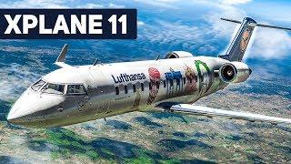 X-Plane 11 CRJ 200 Frankfurt - Berlin #3: LANDUNG in Berlin-Tegel! | Flug Simulator