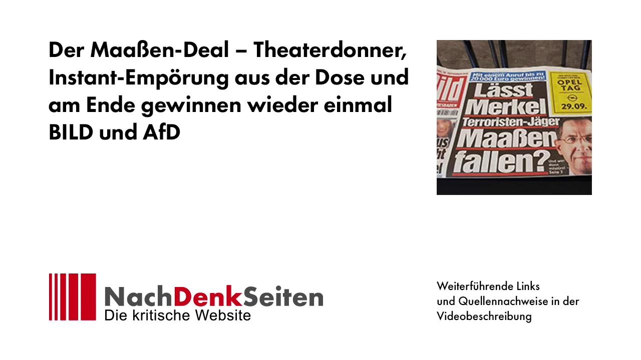 0b1b8921c19421 Der Maaßen-Deal – Theaterdonner
