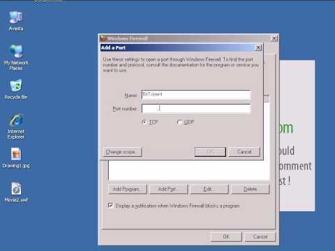 Open Ports in Windows Firewall