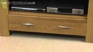 Galway Solid Oak Tv/dvd/video Unit From Oak Furniture Land