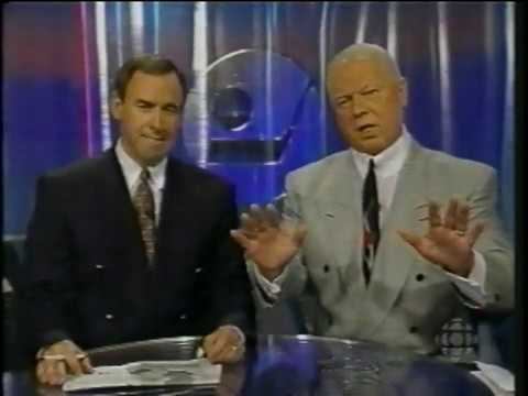 Don Cherry stands up for himself (Coach's Corner '94 Stanley Cup Finals) [Game 4]
