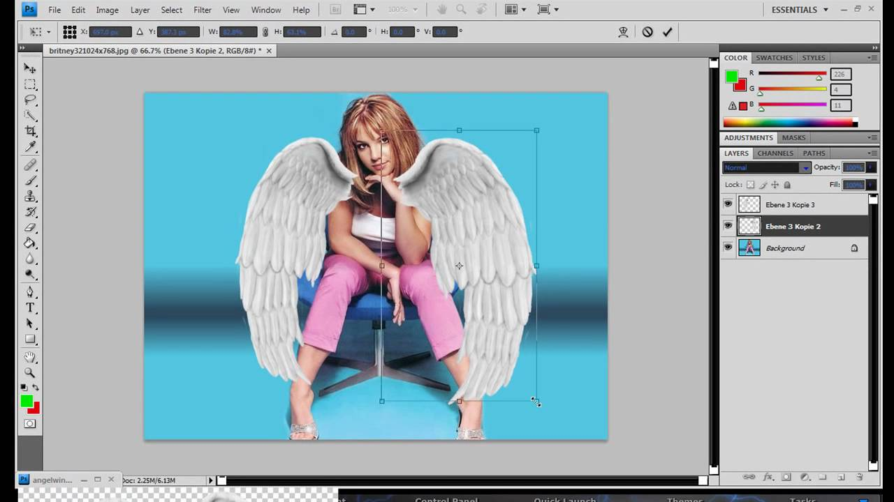 Fotomontajes para poner alas de angel