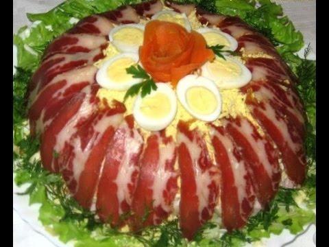 Салат радуга с кириешками рецепт с фото