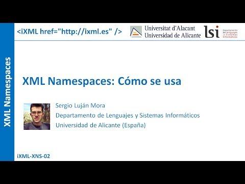 XML Namespaces: Cómo se usa