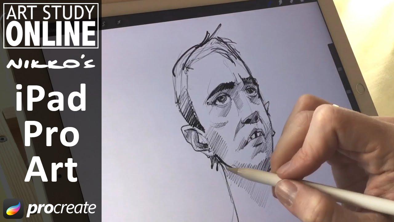 Apple Pencil Review Ipad Pro Artist Nikolai Lockertsen Youtube