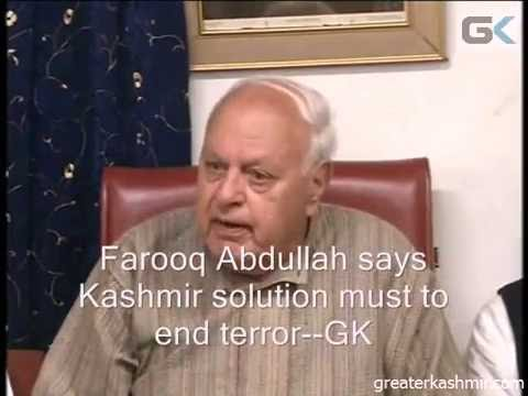 Farooq Abdullah says Kashmir solution must to end terror