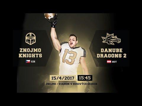 Americký fotbal Znojmo Knights - Danube Dragons 2  sobota 15.4.2017 od 15.45