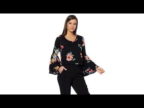 3f019ebce52 Wendy Williams Drama Bell Sleeve Ponte Top - YouTube