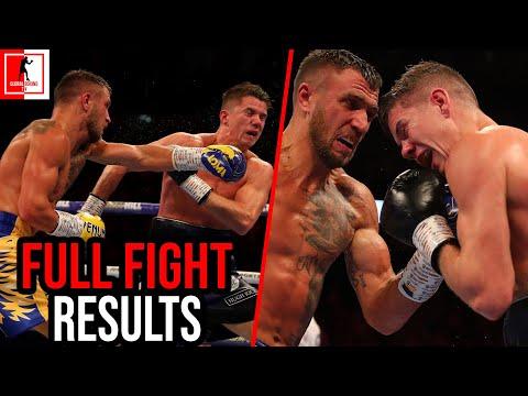 Vasyl Lomachenko Vs Luke Campbell Full Fight Results