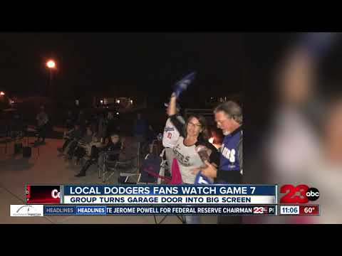 Local Dodgers fans watch Game 7 in unique game