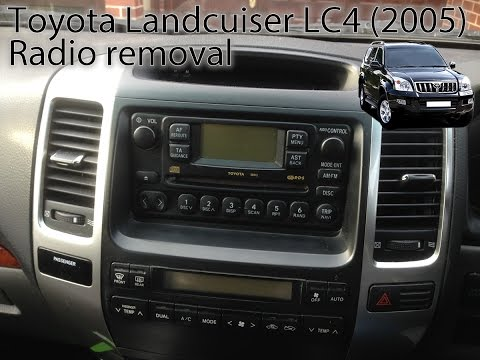 Toyota Land Cruiser (2003 to 2009) Radio Removal LC3, LC4, LC5, Prado by VegOilGuy