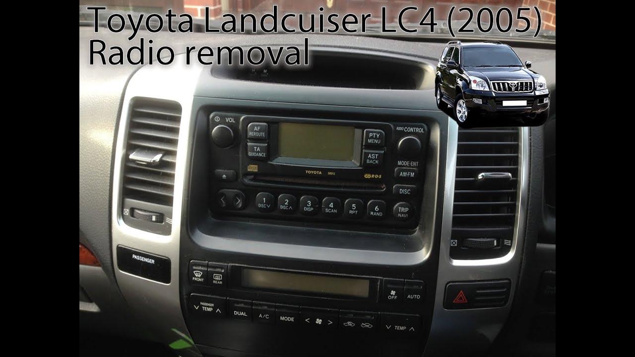 Toyota Land Cruiser (2003 to 2009) Radio Removal LC3, LC4, LC5, Prado by VegOilGuy  YouTube