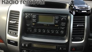 Toyota Land Cruiser 2003 to 2009 Radio Removal LC3 LC4 LC5 Prado by VegOilGuy
