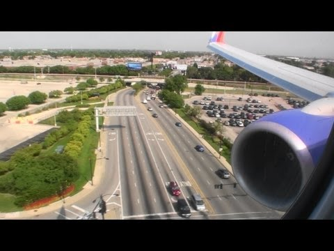Firm Landing!!!  Excellent HD Boeing 737-800 Landing At Chicago Midway Airport!!!