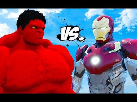 IRON MAN VS RED HULK