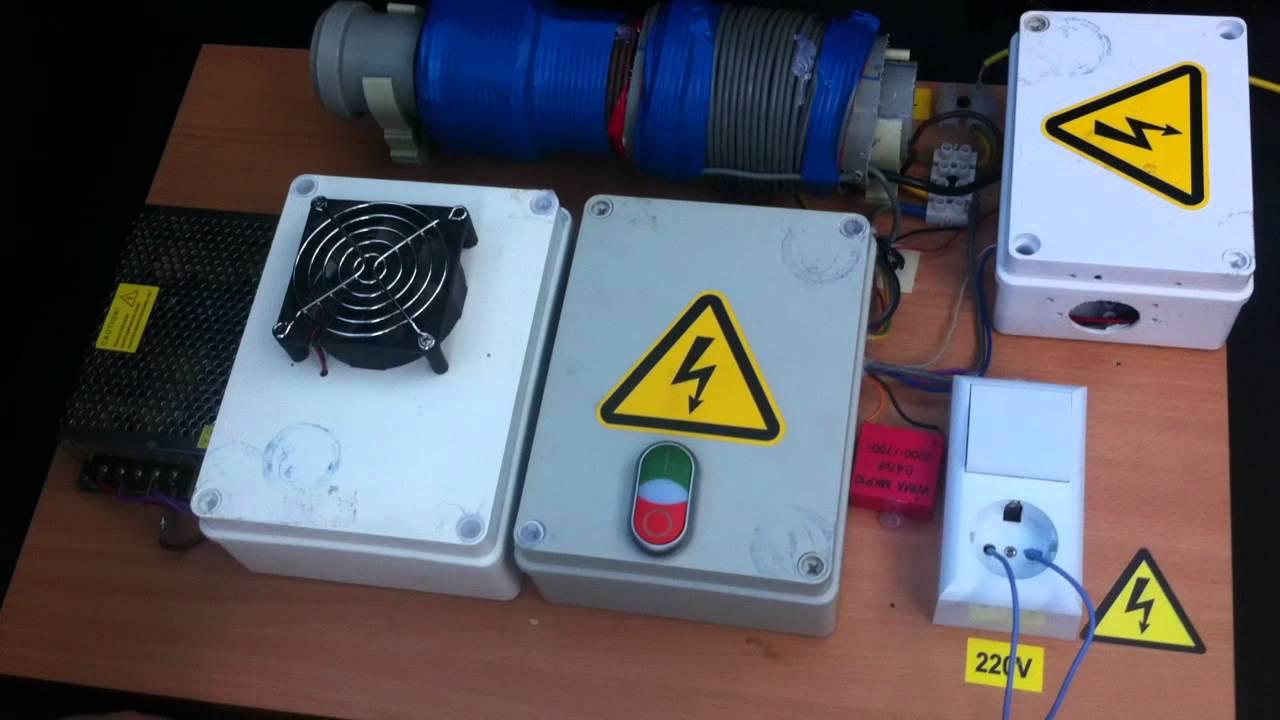 схема регулируемого прерывателя тока внагрузке 12 вольт