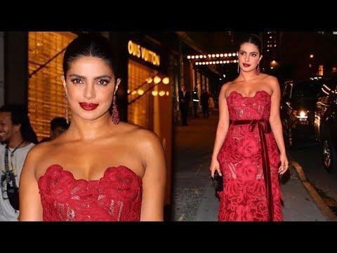 Priyanka Chopra HOT Red Outfit At Vanity Fair's Best Dressed Party 2019 Mp3