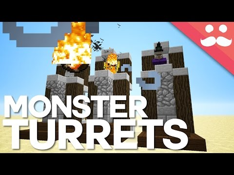 How To Build Redstone MOB TURRETS In Minecraft!