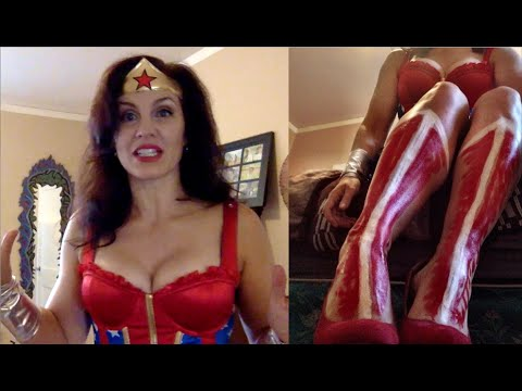 Spirit Halloween 2015 Store Wonder Woman Costume Review Body Painted Boots