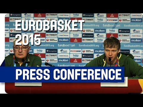 Serbia v Lithuania - Post Game Press Conference - Re-Live - Eurobasket 2015
