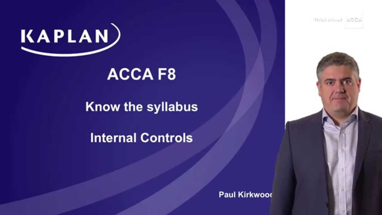 F8: Internal controls (part 1)