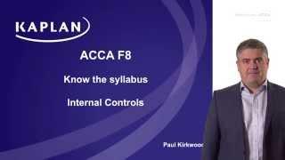 F8: Internal controls (part 1)