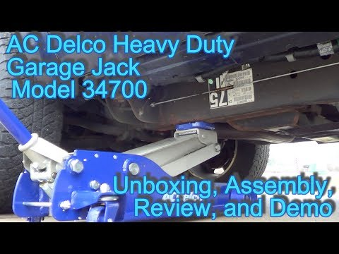 Ac Delco 3 1 2 Ton Garage Jack Model 34700 Unboxing Assembly