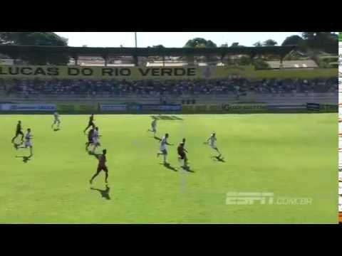 Gol de Luverdense 0x1 Oeste - Série B 2016