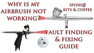 Airbrush Troubleshooting Guide, Why Doesn't It Work? Demystifying Airbrushes.