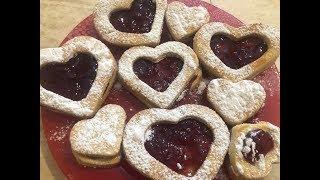 Печенье-валентинки! Вкусное, рассыпчатое и готовится на раз,два,три!!!