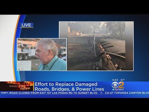 Woolsey Fire Leaves Behind Powerless Homes, Crumbling Roads