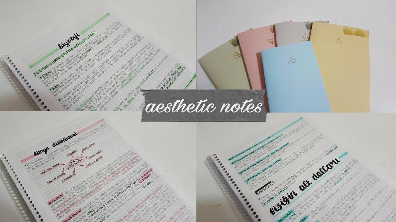 Nasıl estetik notlar tutuyorum?Kullandığım Defterler/Kalemler/Tavsiyeler 🤍