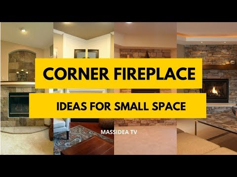 45+ Best Corner Fireplace Ideas for Small Space 2018
