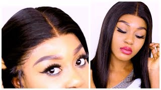 The most affordable & realistic lace wig ultimate pre- plucked hairline/ft hair vivi